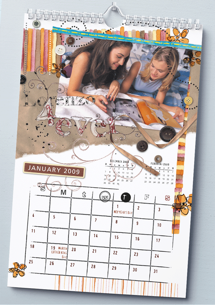 XMPie - עיצוב לוח שנה בסגנון bookscraping לתלמידי תיכון