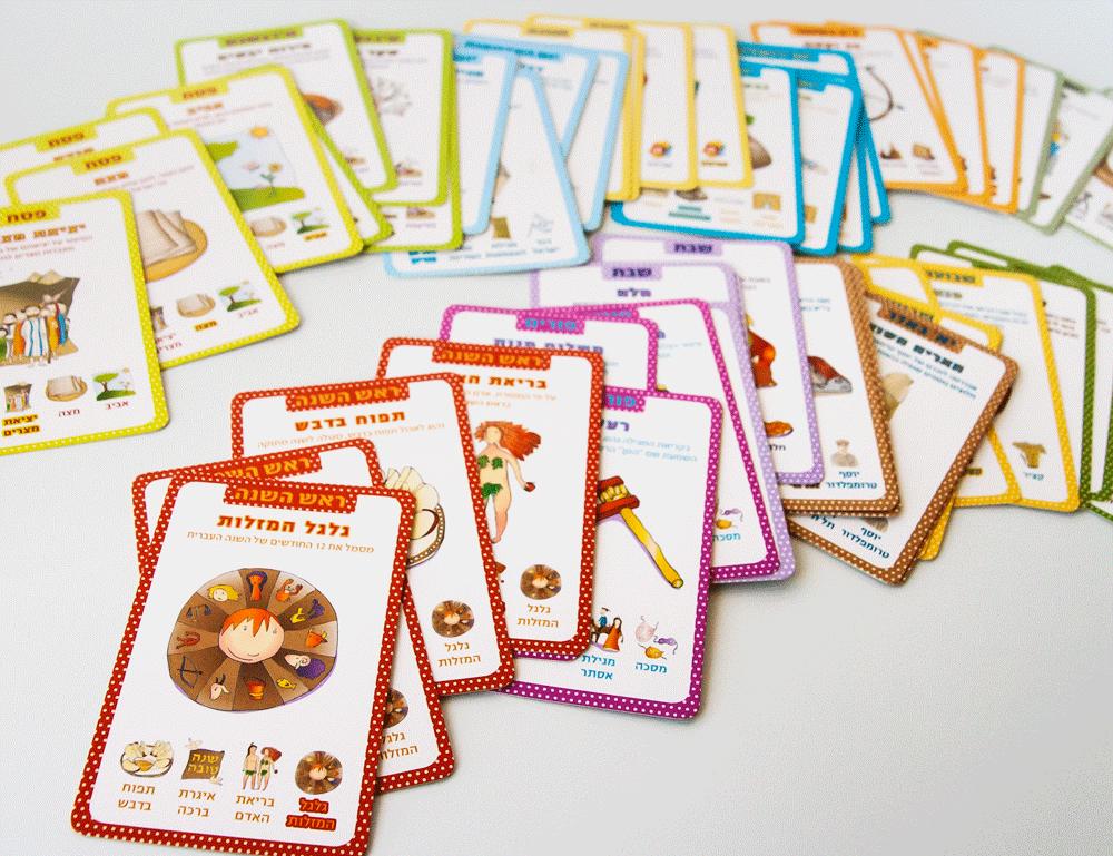 משפחג - עיצוב משחק קלפים למשפחה בנושא חגים
